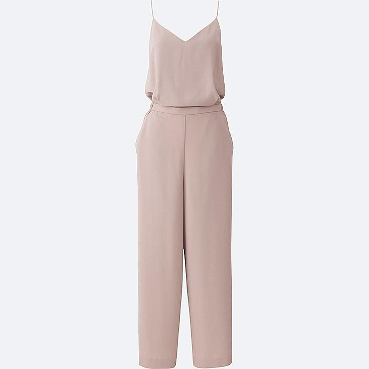 WOMEN CAMISOLE JUMPSUIT, BEIGE, large