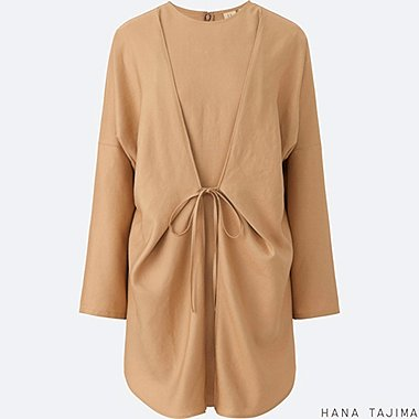 WOMEN Hana Tajima Easy Care Silk Touch Linen Tie Tunic