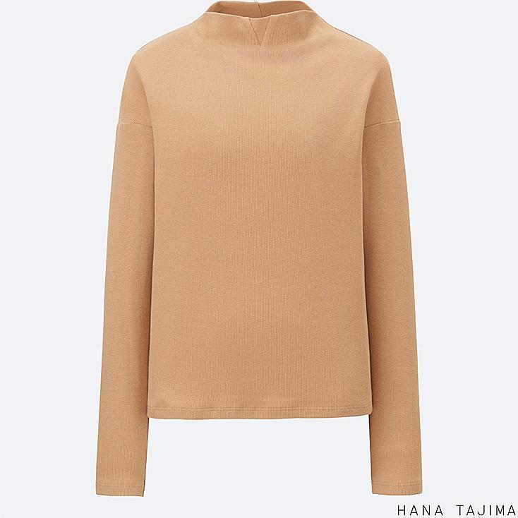 Women Ribbed Mock Neck Long Sleeve T Shirt Uniqlo Us
