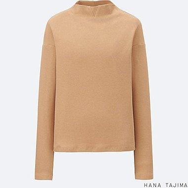 WOMEN Hana Tajima Ribbed Mock Neck Long Sleeve T-Shirt