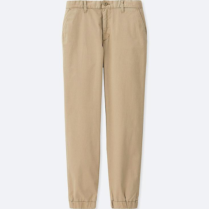 MEN JOGGER PANTS (COTTON), BEIGE, large