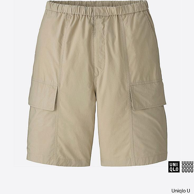 MEN U RELAXED CARGO SHORTS, BEIGE, large