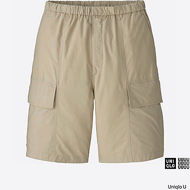 MEN U RELAXED CARGO SHORTS, BEIGE, medium