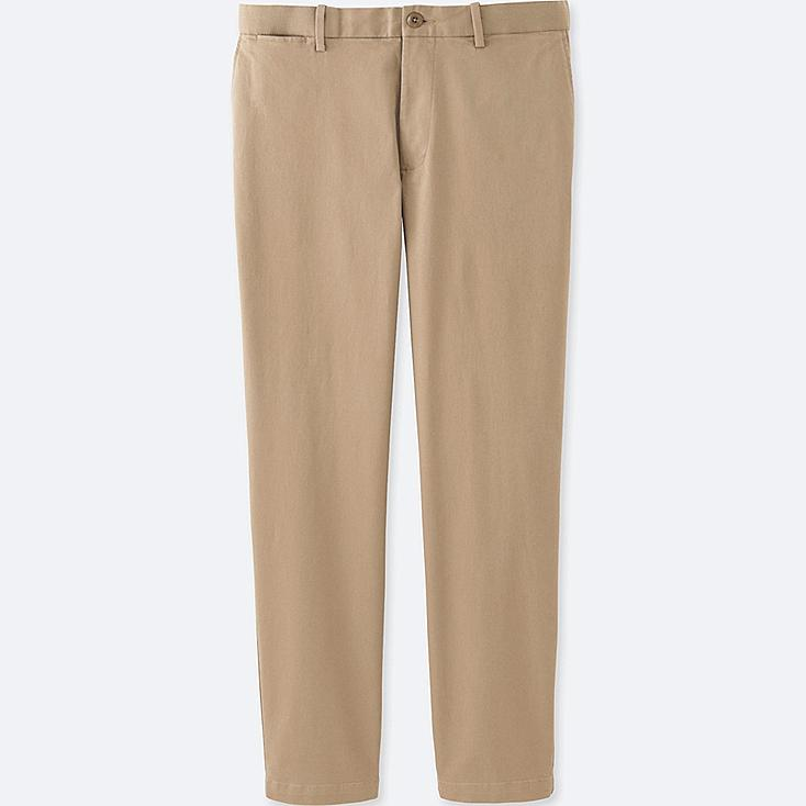 MEN RELAXED ANKLE PANTS, BEIGE, large