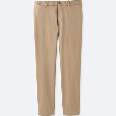 MEN RELAXED ANKLE PANTS (COTTON), BEIGE, medium