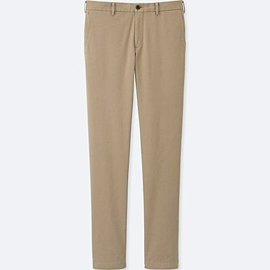 MEN SLIM-FIT CHINO FLAT FRONT PANTS, BEIGE, medium