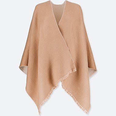 WOMEN REVERSIBLE 2-WAY STOLE, BEIGE, medium