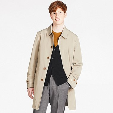 MEN CONVERTIBLE COLLAR COAT, BEIGE, medium