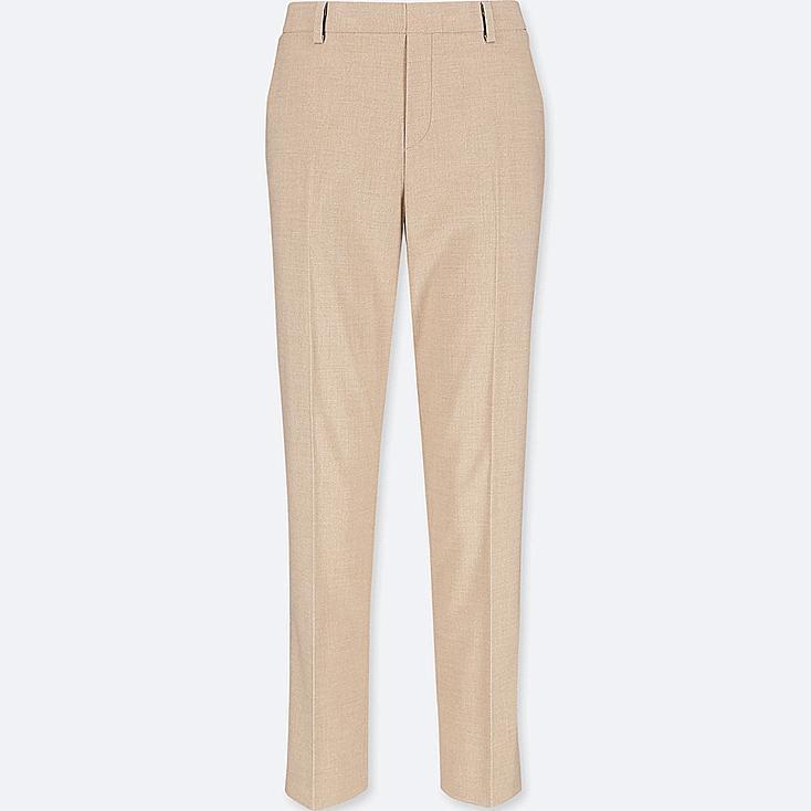 WOMEN SMART STYLE ANKLE-LENGTH PANTS, BEIGE, large