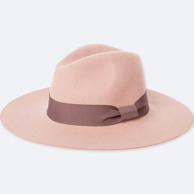 WOMEN WOOL WIDE BRIM FEDORA HAT