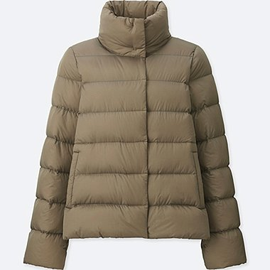 WOMEN ULTRA LIGHT DOWN STAND COLLAR JACKET