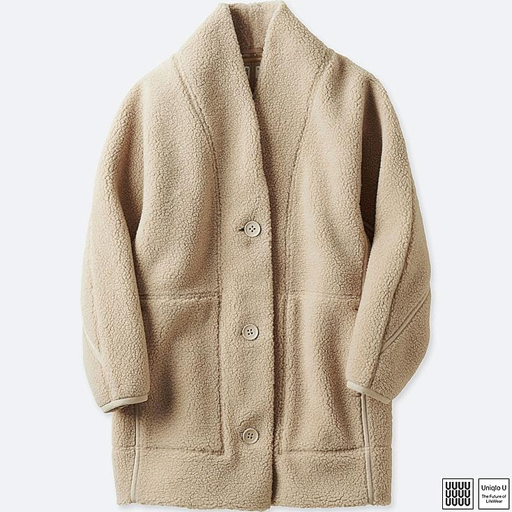WOMEN U FLEECE LONG-SLEEVE CARDIGAN | UNIQLO US