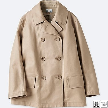 WOMEN U PEACOAT, BEIGE, medium