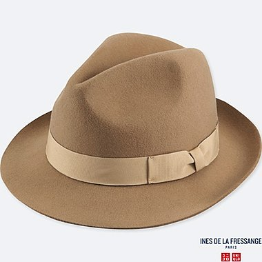 WOMEN INES WOOL FEDORA HAT