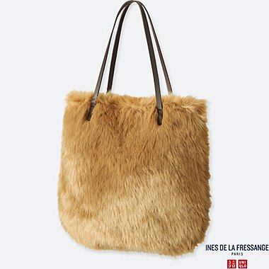 WOMEN INES FAUX SHEARLING BAG