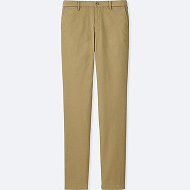 MEN ULTRA STRETCH SKINNY CHINO FLAT-FRONT PANTS, BEIGE, medium
