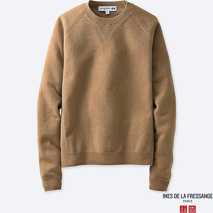 WOMEN IDLF CASHMERE CREWNECK SWEATER | UNIQLO US