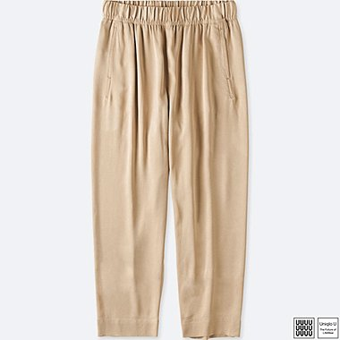 WOMEN UNIQLO U SATIN EASY TROUSERS