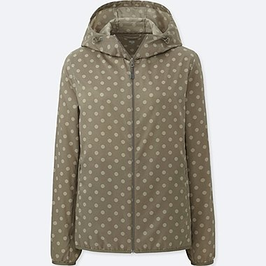 WOMEN POCKETABLE PARKA(PRINT)