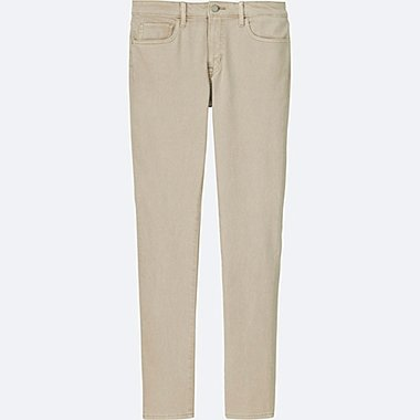 MEN STRETCH SKINNY FIT COLOR JEANS, BEIGE, medium