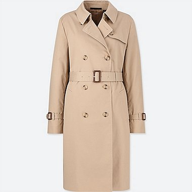 WOMEN TRENCH COAT, BEIGE, medium