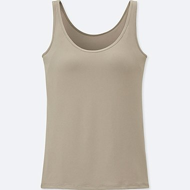 WOMEN AIRism BRA SLEEVELESS TOP, BEIGE, medium