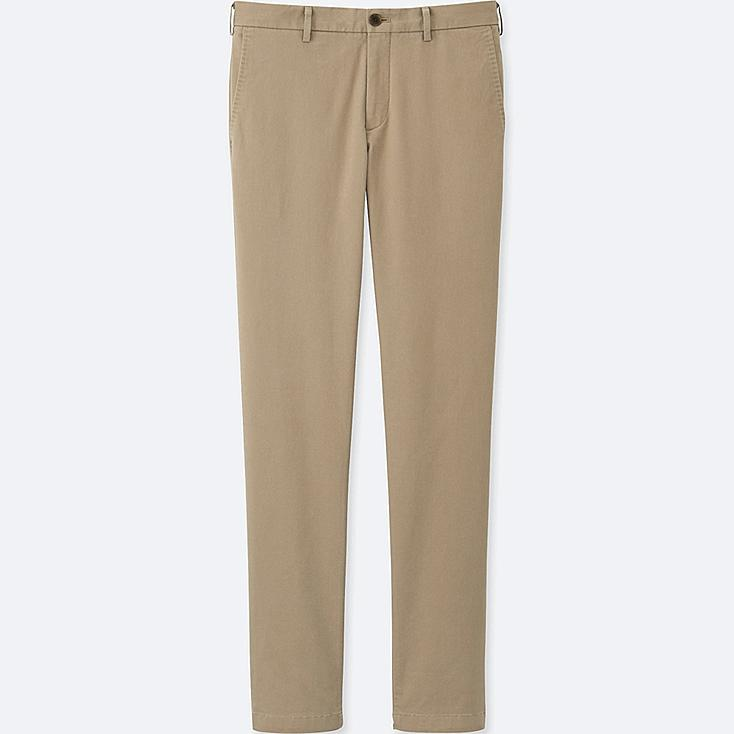 MEN SLIM FIT FLAT FRONT CHINO TROUSERS (L32)
