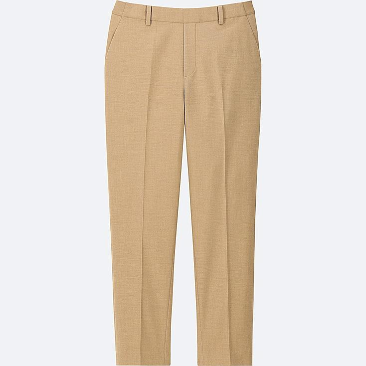 WOMEN EZY ANKLE-LENGTH PANTS, BEIGE, large