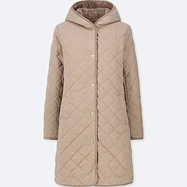 WOMEN PILE-LINED FLEECE COAT (ONLINE EXCLUSIVE), BEIGE, medium