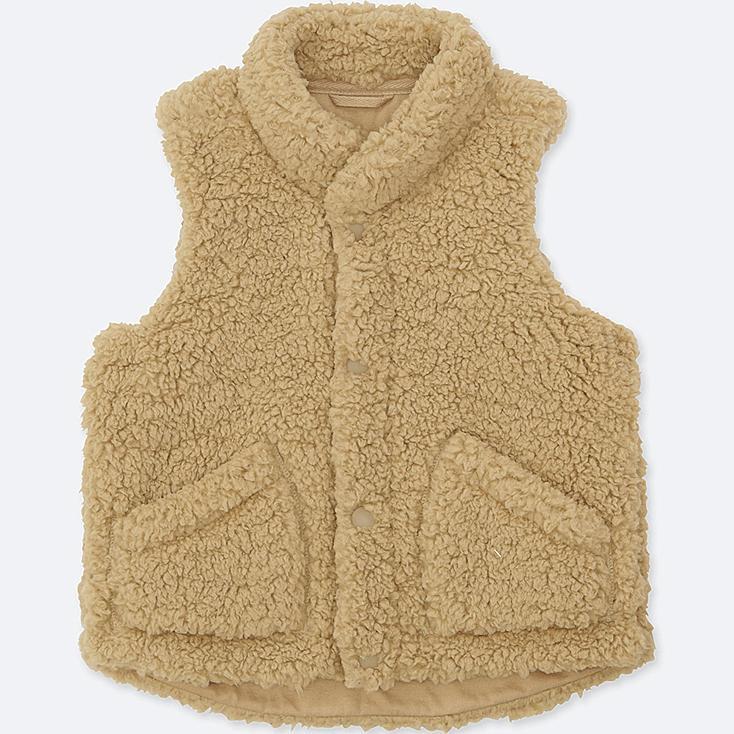 Babies Toddler Fluffy Yarn Fleece Vest Uniqlo Uk