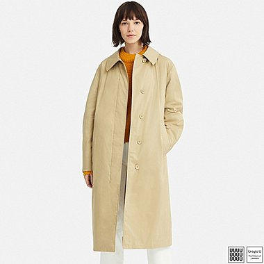 WOMEN U LIGHT PADDED COTTON COAT, BEIGE, medium