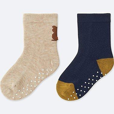 BABY SOCKS (2 PAIRS), BEIGE, medium
