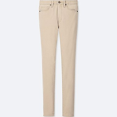 WOMEN EZY SKINNY FIT COLOR JEANS, BEIGE, medium