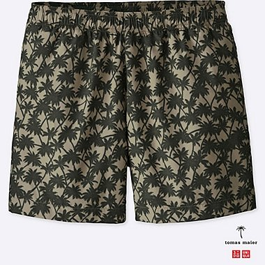 MEN PRINTED SWIM RELAXED SHORTS, BEIGE, medium