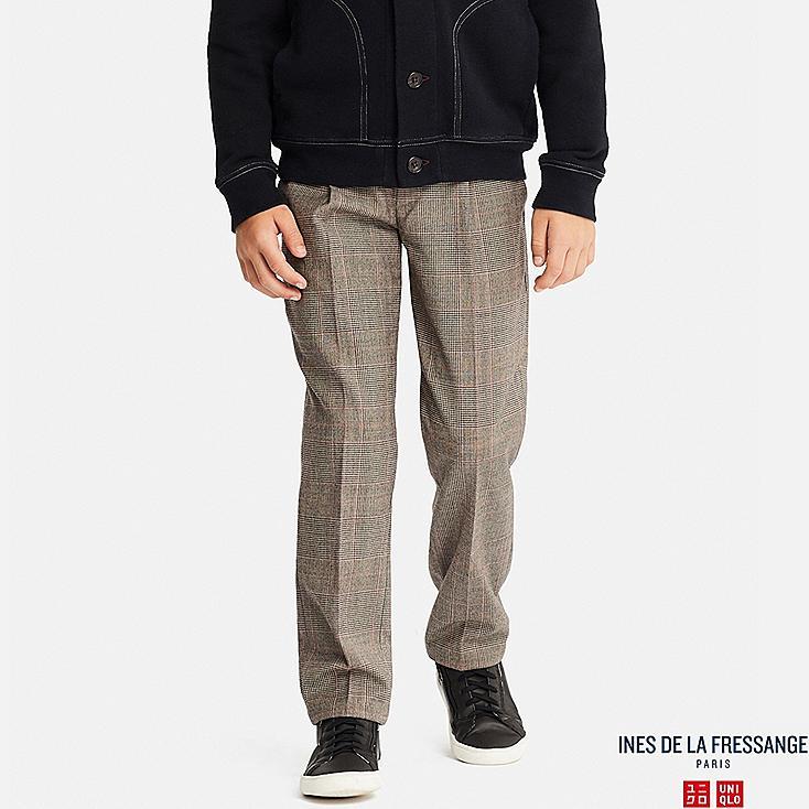 KIDS WOOL-BLEND PANTS (INES DE LA FRESSANGE), BEIGE, large