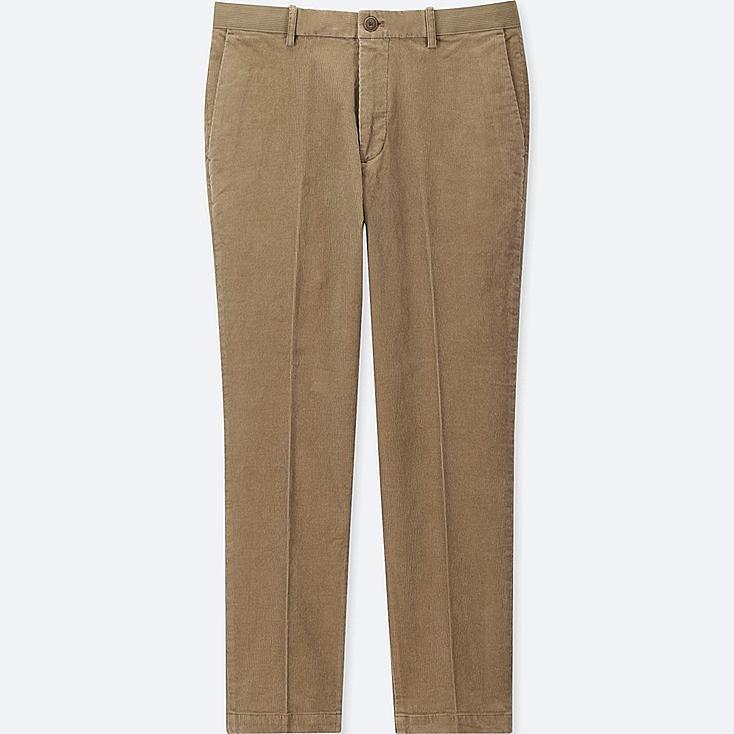 MEN EZY ANKLE-LENGTH PANTS, BEIGE, large