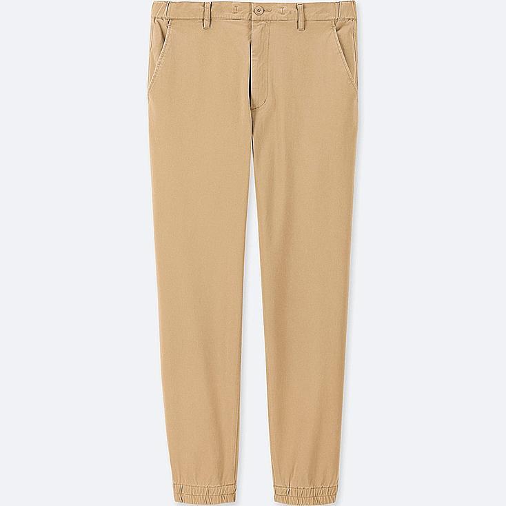 MEN COTTON JOGGER PANTS, BEIGE, large