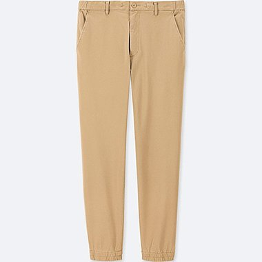 MEN COTTON JOGGER PANTS, BEIGE, medium