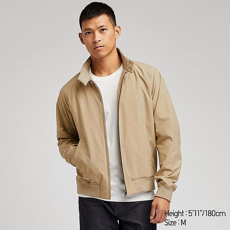 MEN HARRINGTON JACKET, BEIGE, large
