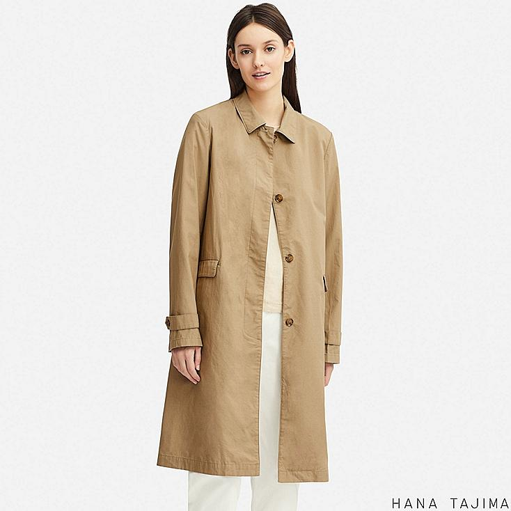 WOMEN LIGHTWEIGHT COAT (HANA TAJIMA), BEIGE, large