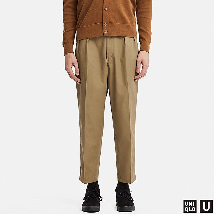 MEN UNIQLO U WIDE LEG PLEATED TAPERED CHINO TROUSERS  7caf7ed64