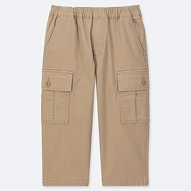 BOYS CARGO CROPPED PANTS, BEIGE, medium