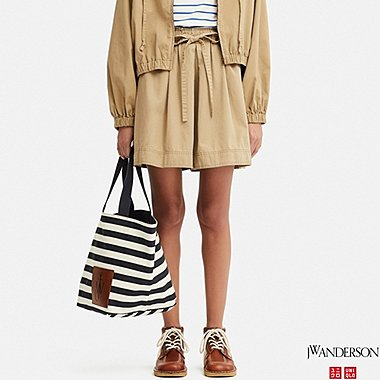 WOMEN FLARE SHORTS (JW Anderson), BEIGE, medium