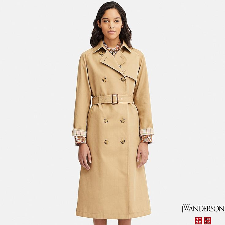 WOMEN REVERSIBLE TRENCH COAT (JW Anderson), BEIGE, large