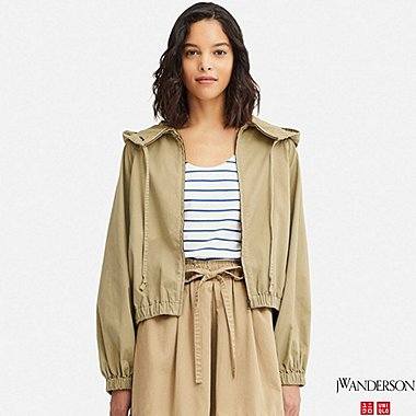 WOMEN DOLMAN SLEEVE PARKA (JW Anderson), BEIGE, medium
