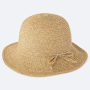 GIRLS UV CUT HAT, BEIGE, medium