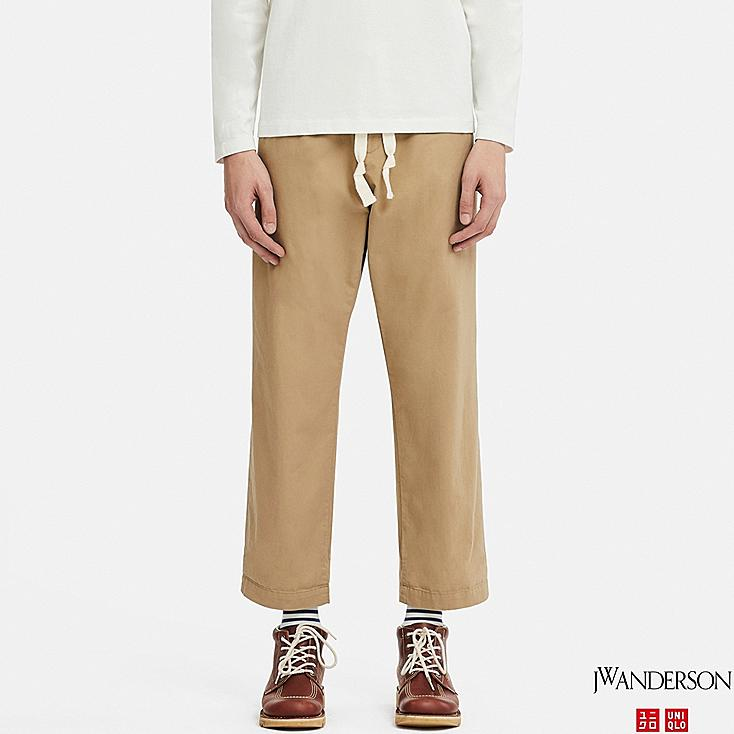 MEN RELAXED DRAWSTRING PANTS (JW Anderson), BEIGE, large