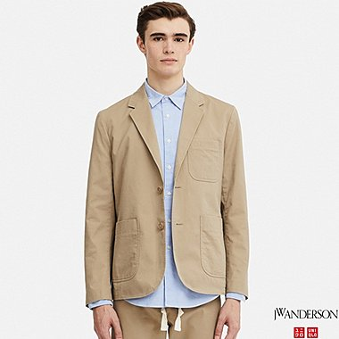 MEN JW ANDERSON LIGHT CHINO TAILORED JACKET
