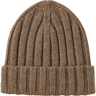 MEN HEATTECH KNITTED CAP, KHAKI, medium