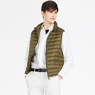 MEN ULTRA LIGHT DOWN VEST, KHAKI, medium